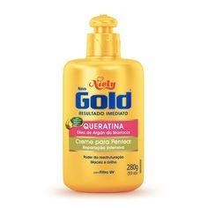 'Já usei Moroccanoil, Joico, Lolla, mas nenhum hidratou tanto meu cabelo quanto o creme da Niely Gold de queratina com óleo de Argan. Maravilhoso!' – Gabriela GonçalvesAqui por R$ 7,79.