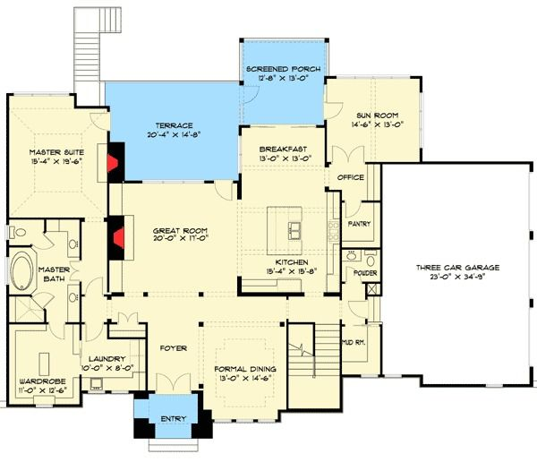 16 best house plans with finished basements images on for Sun country homes floor plans