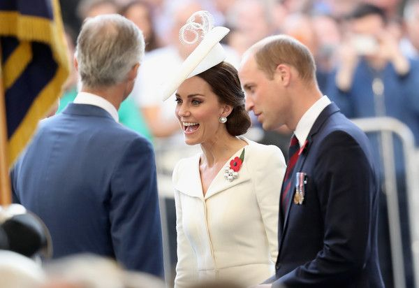 Kate Middleton Photos Photos - King Philippe of Belgium, Prince William, Duke of Cambridge and Catherine, Duchess of Cambridge attend the Last Post ceremony, which has taken place every night since 1928, at the Commonwealth War Graves Commission Ypres (Menin Gate) Memorial on July 30, 2017 in Ypres, Belgium. The Duke and Duchess of Cambridge are joined by two hundred descendants whose ancestors are named on the Gate, alongside representatives from nations who fought on the Salient. The…