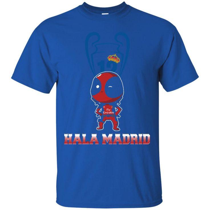 Deadpool Real Madrid Trophy T shirts Hala Madrid Hoodies Sweatshirts