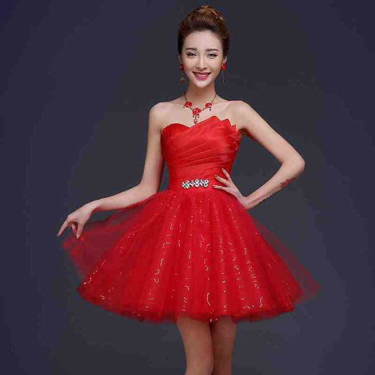 Red Dress For Wedding Reception