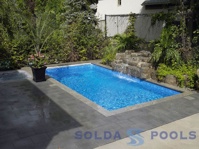 vinyl pools inground vinyl pools i would be so happy with this little pool - Eine Feuerstelle Am Pool