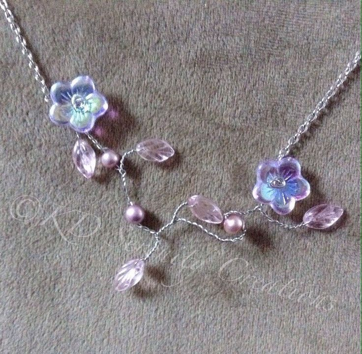 A personal favorite from my Etsy shop https://www.etsy.com/ca/listing/272169386/silver-peach-lavender-floral-necklace
