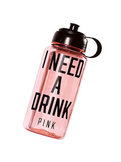 I need a drink Water Bottle - PINK
