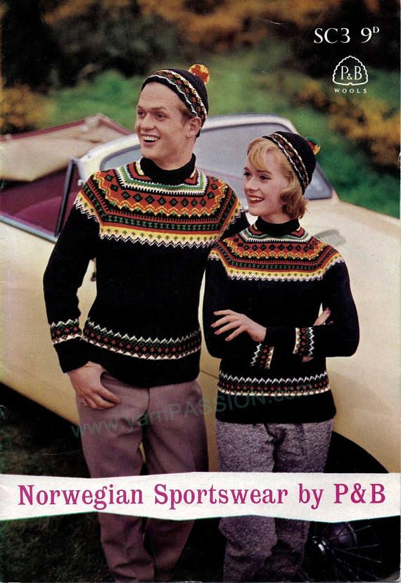 Fair Isle Norwegian Raglan Sweater AND cap SIZES: 34 42 pattern at ETSY in the shop called YarnPassionDesigns