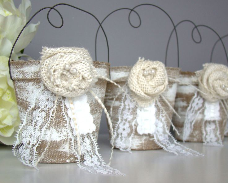 Rustic Wedding Favor Bag Container Country Vintage Party