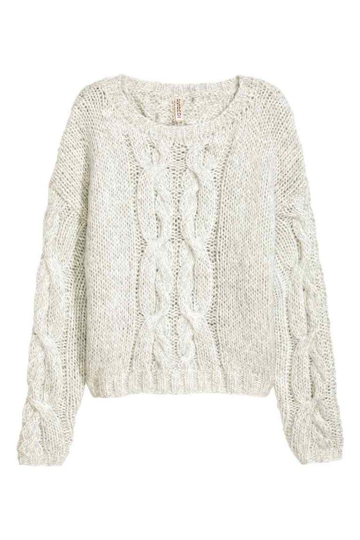 Pullover in maglia a trecce | H&M