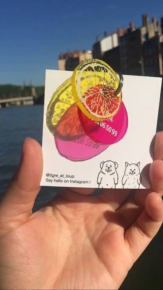 Médaillon pour chien Agrumes médaille d'identification