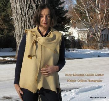 beautiful hand-stitched elk vest by Rocky Mountain Custom Leather