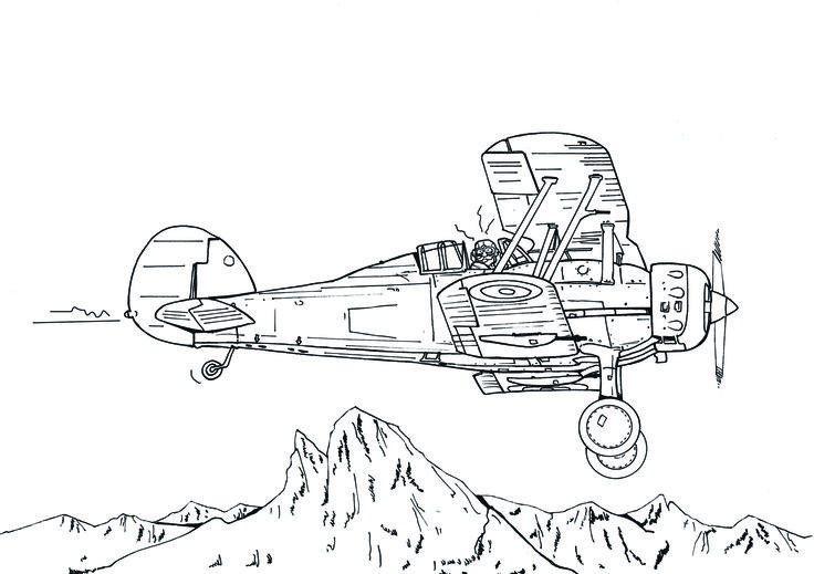 Gloster Gladiator - David Voileaux copyright