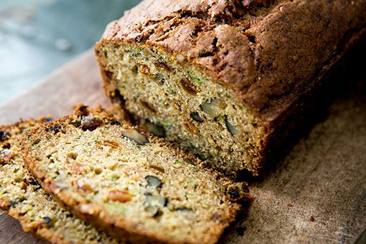 Zucchini Bread with Pineapple ~ Moist and delicious zucchini bread, a quick bread made with fresh grated zucchini and crushed pineapple. ~ SimplyRecipes.com