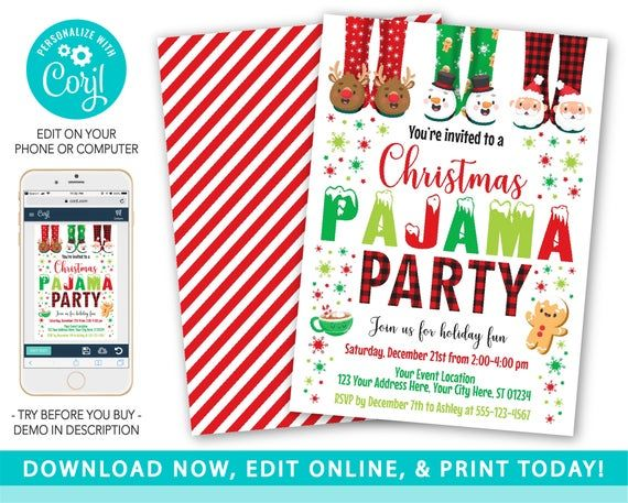 18++ Christmas pajama party clipart ideas in 2021