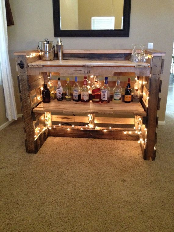 ... Bar, Etsy, Bar Cart, Pallets Bar, Pallett Bar, Oak Pallet, Pallet Bar