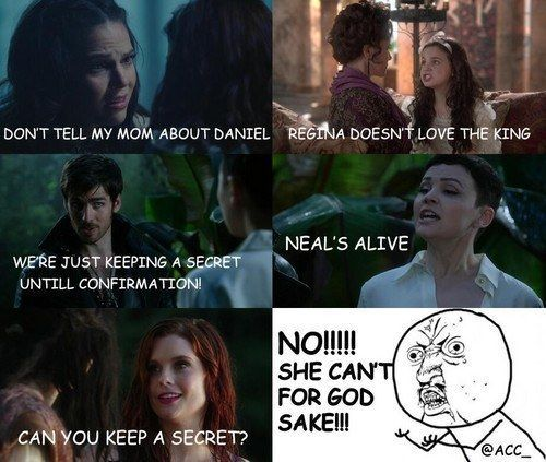 """What everyone screamed whenever anyone told Snow a secret. 