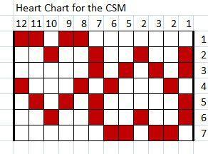 Fair-Isle heart chart                                                                                                                                                                                 More