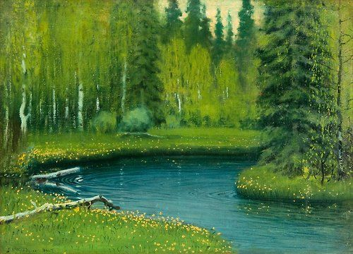Juho Kyyhkynen - Forest Mere, 1907