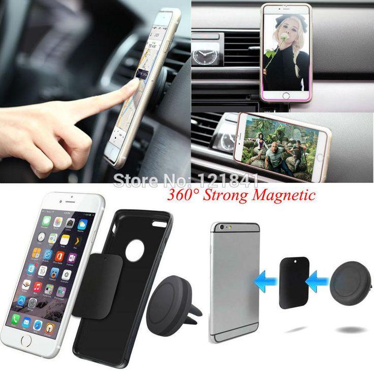 360 Degree Universal Magnetic Phone Holder For iPhone 6s Samsung HTC celular carro
