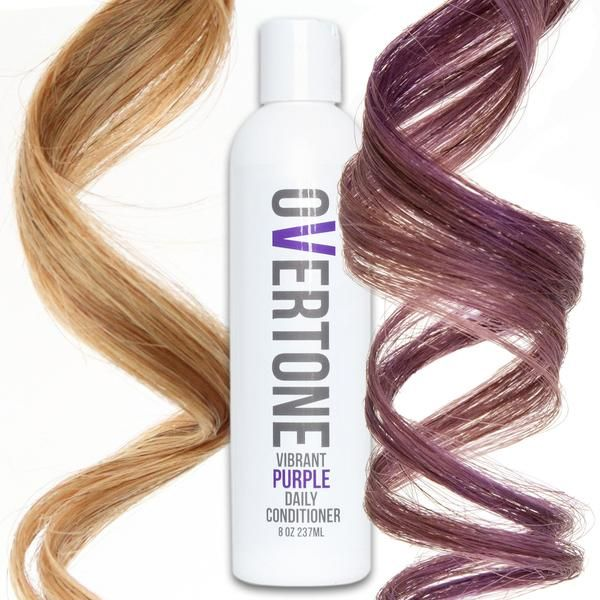 Say goodbye to faded purple hair dye with oVertone color conditioner. More hydrating than purple shampoo and available in 3 shades of purple!