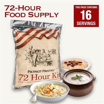 Patriot Pantry 72-Hour Survival Food Kit   16 Serving Sample Pack