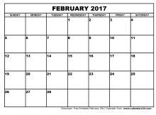 Free February 2017 Calendar (With US Holidays) – Printable Calendar