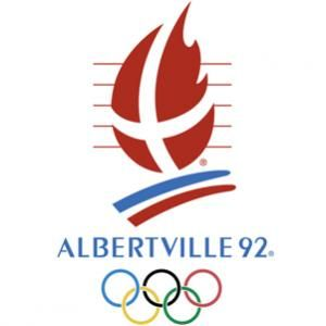 Official logo for the 1992 winter Olympic games in Albertville