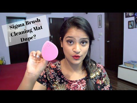 Sigma Brush Cleaning Mat DUPE?   How To Clean Makeup Brushes   Aarushi Jain