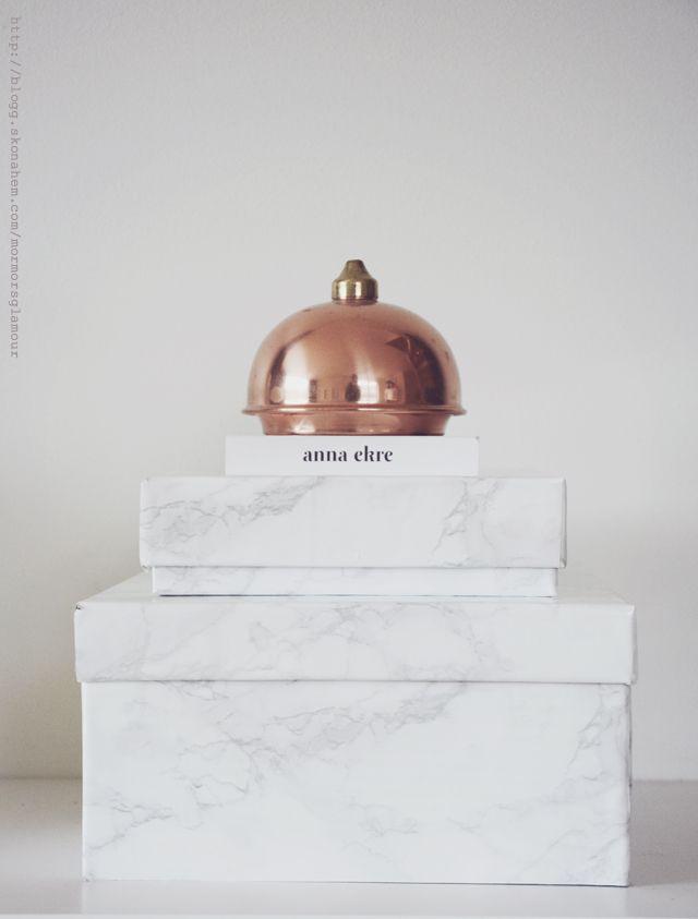 Gör om skolådor till trendiga marmorlådor - DIY Mormorsglamour