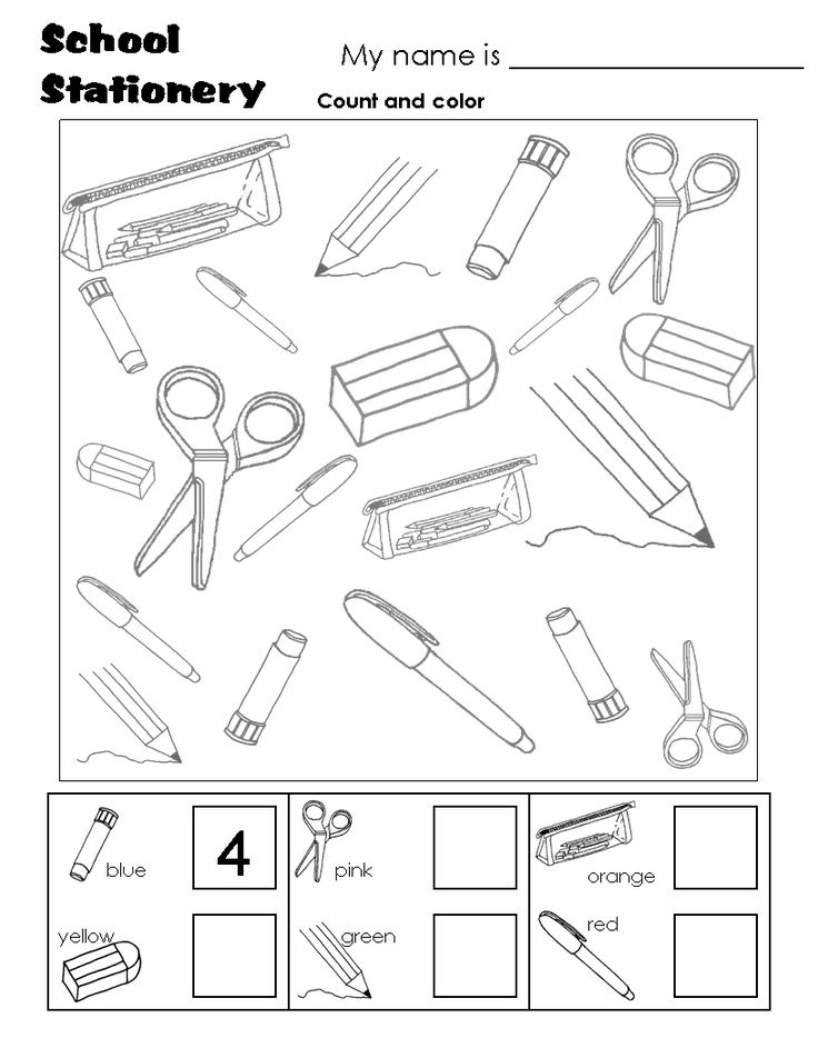 1000+ images about School items on Pinterest | Worksheets, Flashcard ...