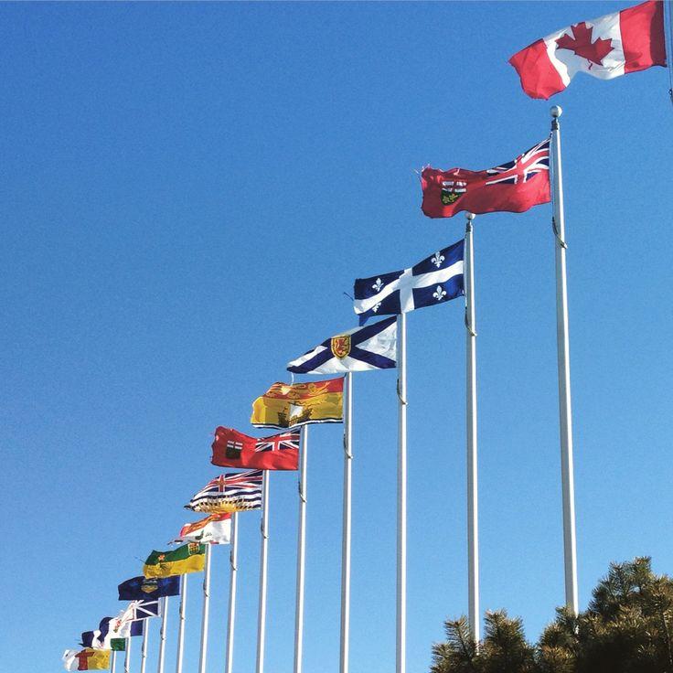 Canadian's flags. Canadian War Museum. Ottawa, Canada. Photo by Rodrigo Velásquez Angel.