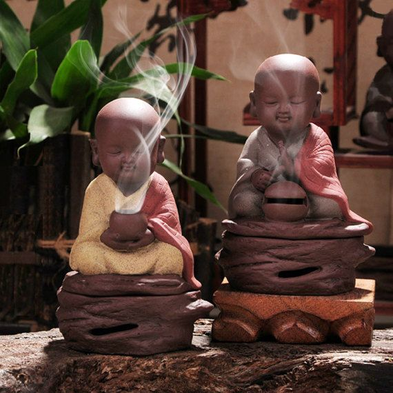 These marvelous ceramic incense burners will provide years and years of usage and are an easy way to add a beautiful fragrance to your home or office.    Name: Small Sand Monk Chanting Incense Burners  CODE: FB0015  Size about : H: 14cm W: 10cm  Material: Ceramic    Name: Laoshan sandalwood incense coil  Ingredients: pure Laoshan sandalwood powder stick Phoebe root material  Product Specifications: Monolithic 2 hours diameter 53mm,32 monolithic  Application of space: tea room, temple, living…
