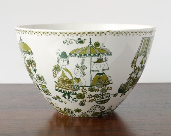 Vintage Retro Norwegian Figgjo Flint Pottery Large by NordicForm