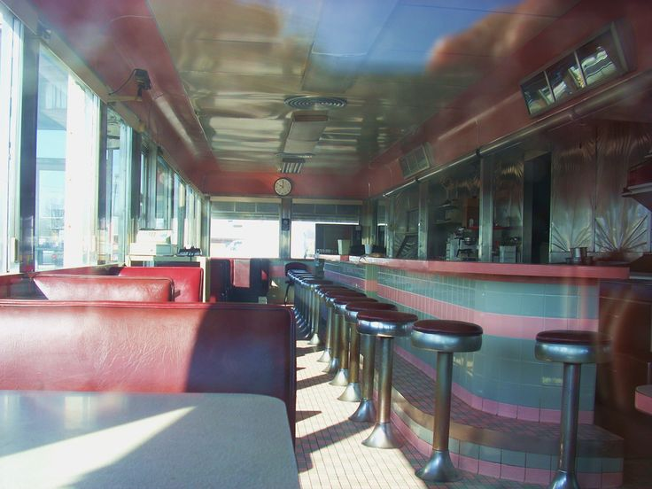 Interior of Route 40 Diner in Greenfield, Indiana just west of Indianapolis. Formerly known as the Oasis Diner; is a 1954 Mountain View. Complex has the diner and vintage motel. Closed December 2007.