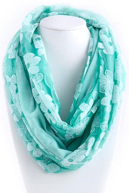 Lace Daffodil Infinity Scarf