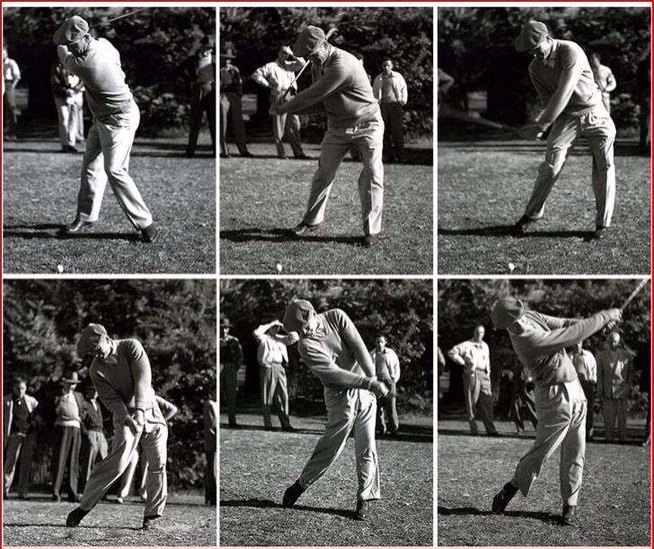 ben hogan swing sequence caddy view playabettergolfgame golf