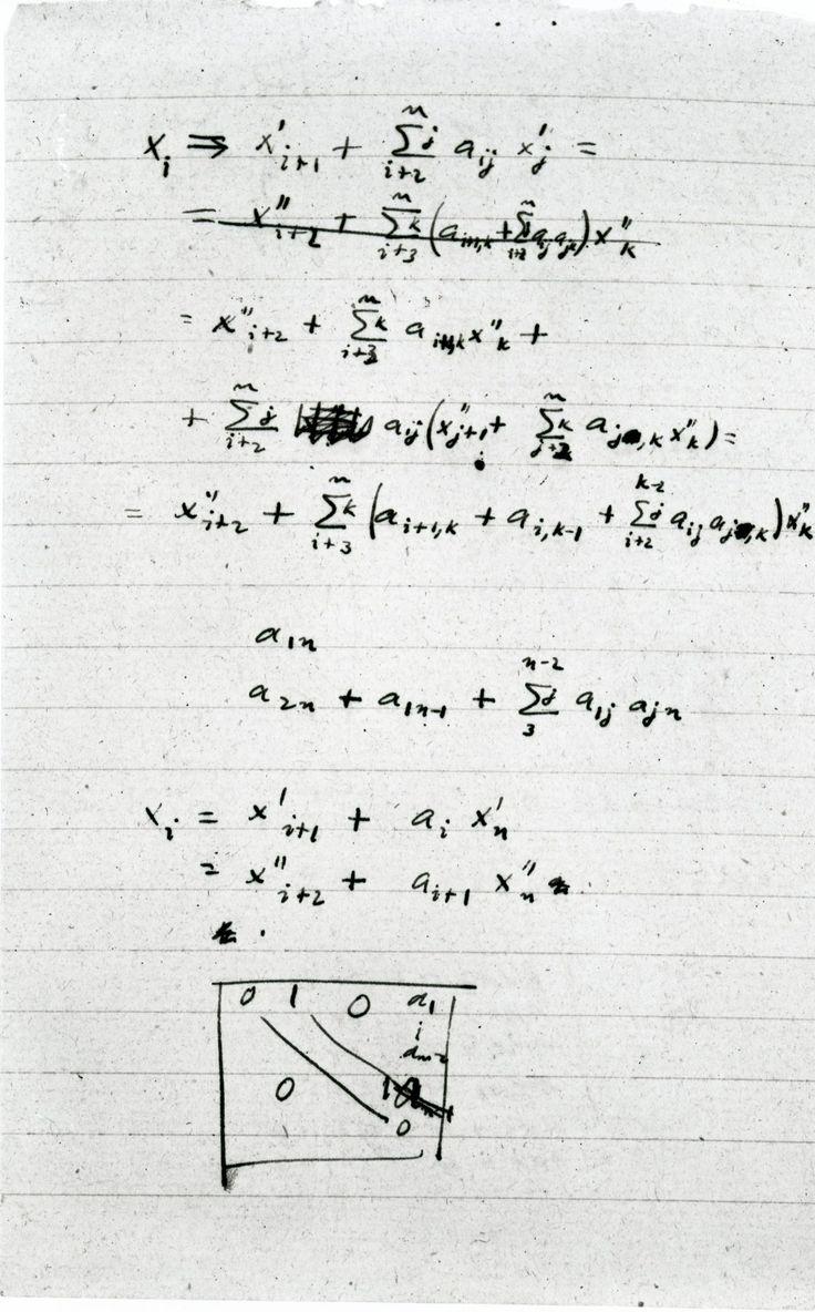 "engineeringhistory: "" John Von Neumann's designs for a nCr calculator, 1944 """