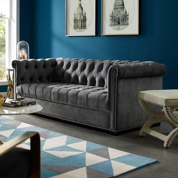 Newlyn Velvet 86 Rolled Arms Sofa In 2020 Rolled Arm Sofa Sofa Sofa Upholstery #velvet #tufted #living #room #set