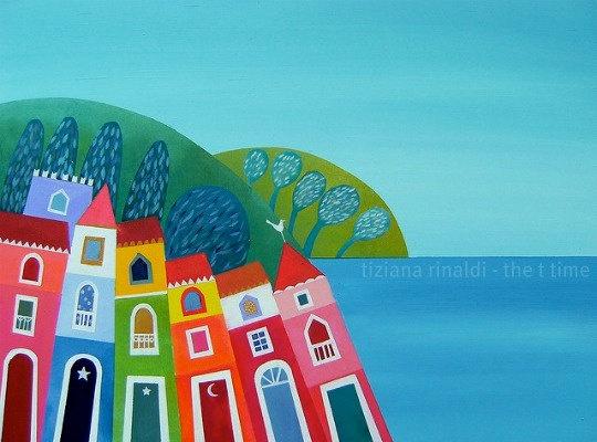 Colorful houses - fine art print Tiziana Rinaldi
