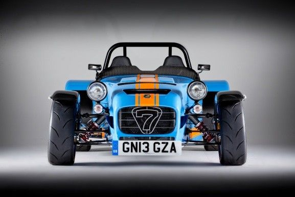 The Caterham Seven 620 R goes from 0 to 60 mph (96 km/h) in 2.8 seconds