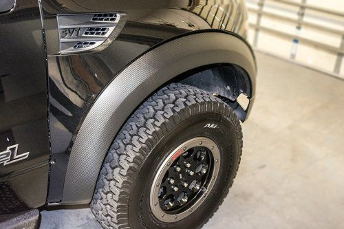 010-2014 FORD RAPTOR CARBON FIBER VINYL FENDER FLARE WRAP KIT Looking for a great way to upgrade your Ford Raptor's fender flares? We've got the perfect solution. Our vinyl fender flare wrap kit is a great way to add some flash to your Raptor.