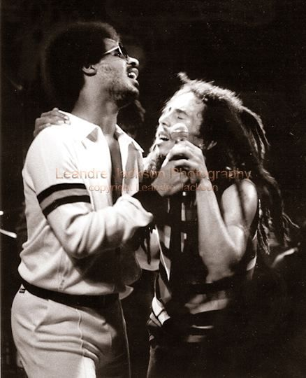 ♫ Bob Marley and Stevie Wonder ♫ 1979