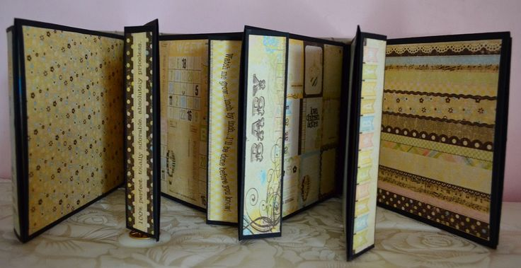 Gatefold album, vintage style, suitable for both girls and boys (inside view)