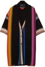 Draped striped wool cardigan by Missoni - Cardigan heaven - warm, wonderful...it pops.