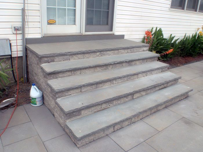 Best Patio Steps Thermaled Bluestone Patio And Steps 400 x 300