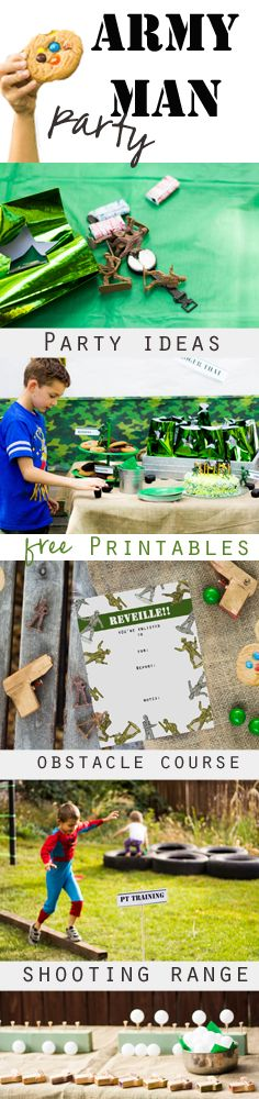Army Man party ideas including FREE printable invites and more.