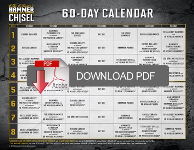 Printables Beachbody Worksheets 1000 images about beachbody worksheets and schedules on pinterest the masters hammer chisel workout schedule