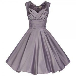 Lindy Bop Ophelia Dove Grey Evening dress