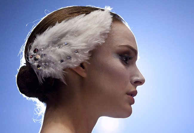 White swan hair piece... quite simple to make with a hair comb