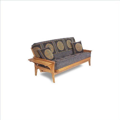 Lifestyle Solutions Fashion Hardwood Santa Cruz Full Size Futon Frame - Full in Medium Oak by LifeStyle Solutions. $442.99. The Lifestyle Solutions Santa Cruz Convertible Futon is designed for comfort and optimum functionality. The arms of this traditional futon conveniently and easily convert to a handy tray. This prime quality futon frame is made from the finest plantation grown materials. This futon will be a great addition to your home. Features: Available in Dark C...