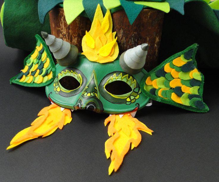 Nou pe blog! Masca de carnaval dragon 👹