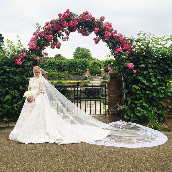 Nicky Hilton's Wedding Gown // http://www.racked.com/2015/7/13/8949847/nicky-hilton-rothschild-wedding-crucial-update#?utm_medium=social&utm_source=pinterest&utm_campaign=racked